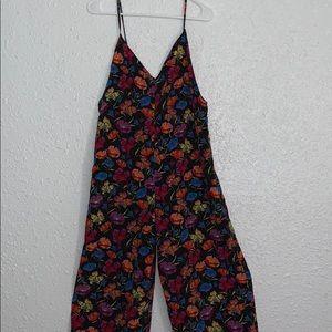 Bright floral jump suit